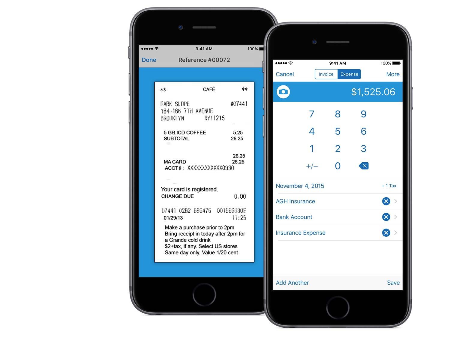 Capture expenses using your iPhone with Kashoo.