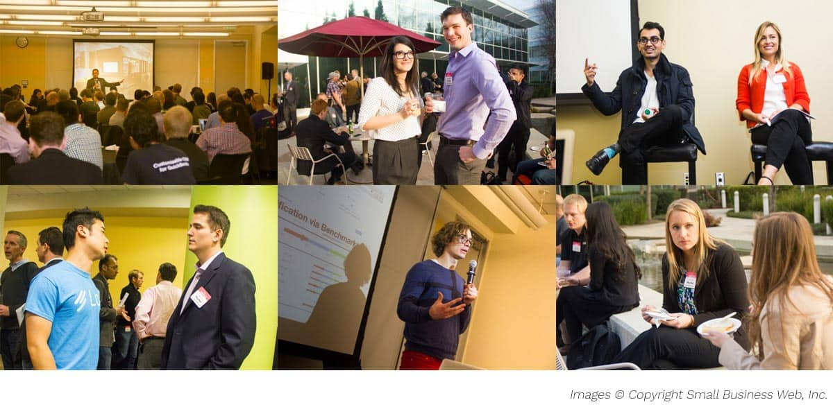 Networking, workshops, and intense discussion at Small Business Web.